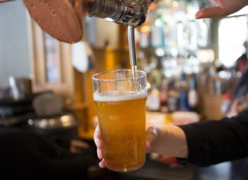 pouring a draft