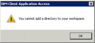 You cannot add a directory to your workspace