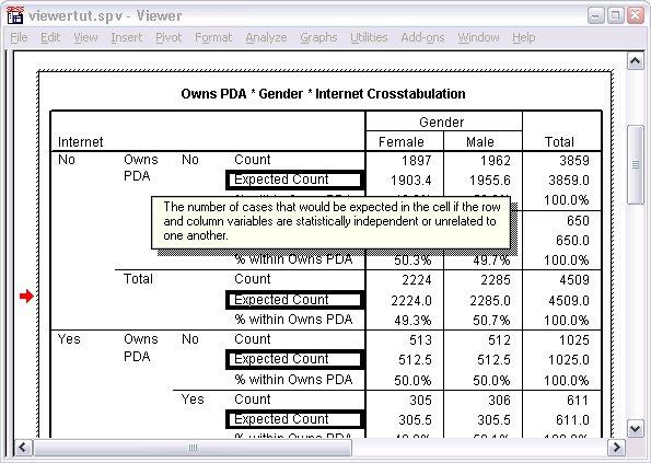 الوصول إلى تعريفات المخرجات عن طريق إظهار التعريف المنبثق لأحد البيانات في جدول