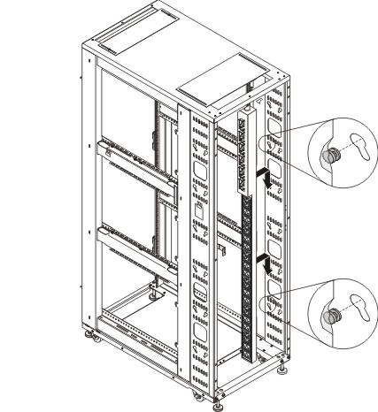 Installing a 0U PDU vertically in the rear of a rack cabinet
