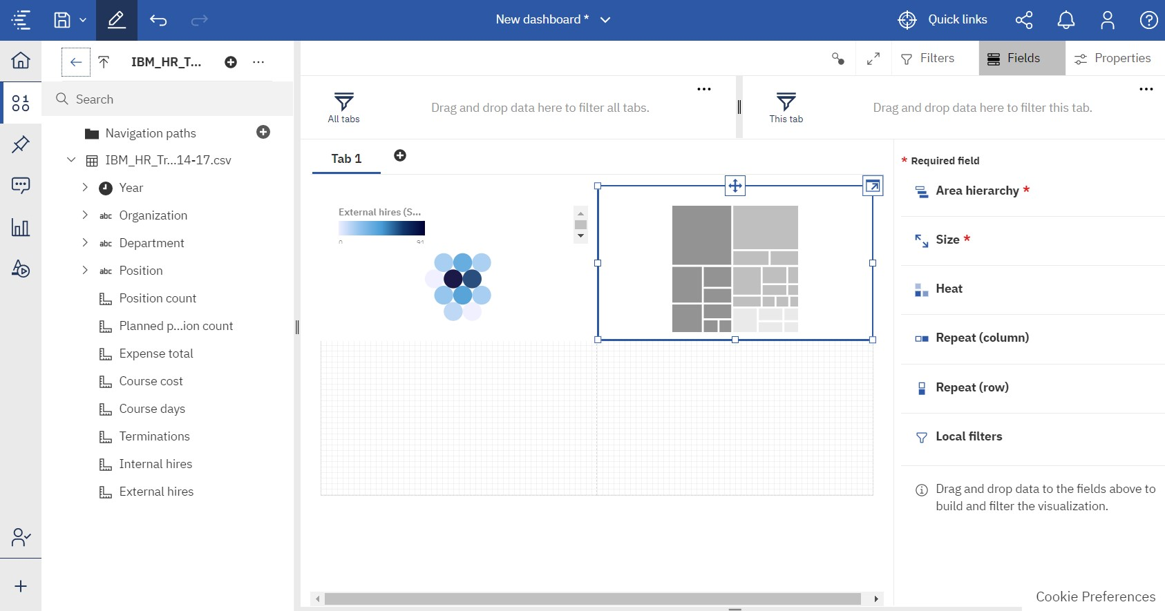ibm cognos analytics creating