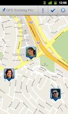 Tampilan aplikasi gps tracking pro