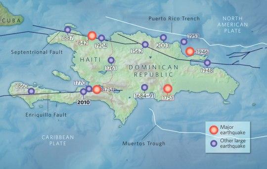 Tatanan Tektonik Haiti (Sumber: E. CALAIS; USGS)