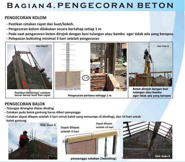 Pengecoran Beton tahan gempa