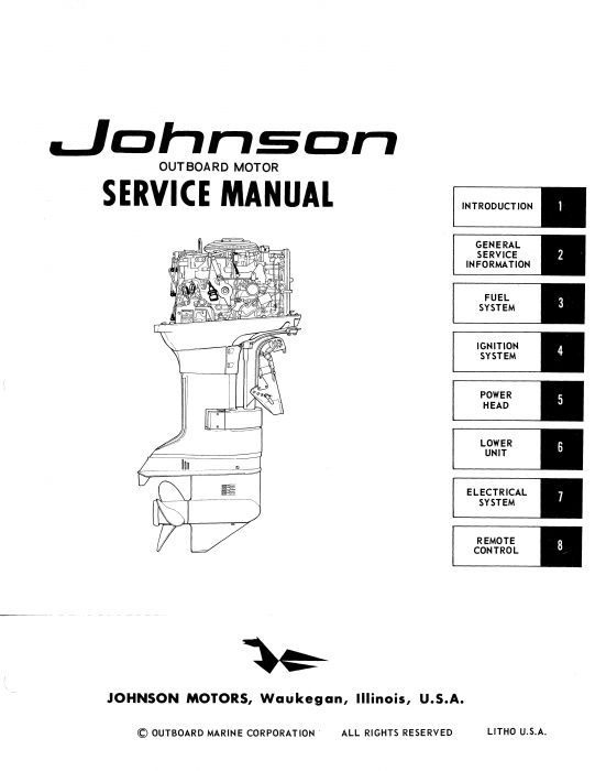 Ken Cook Co. 1972 Johnson Outboard Service Manual M_7212