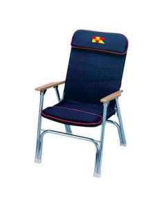 marine deck chairs dining room canada folding boat iboats garelick eez in designer series padded chair anodized aluminum