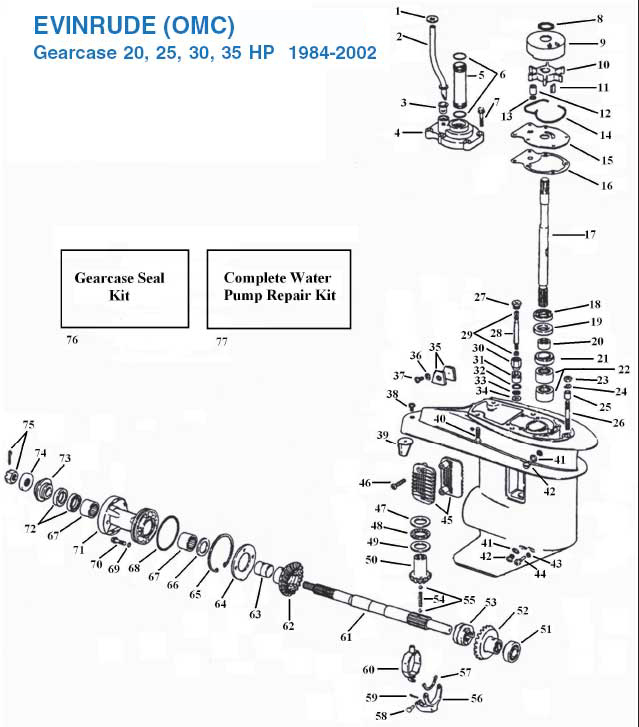 25 HP Evinrude Parts Diagram
