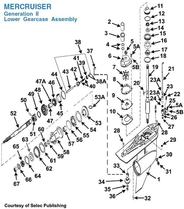 Mercruiser Alpha One Lower Unit Diagram, Mercruiser, Free