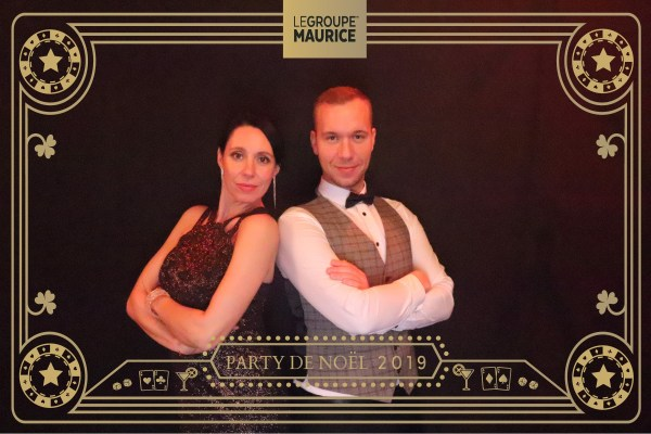 a picture of two people with a designed filter for Le Groupe Maurice company
