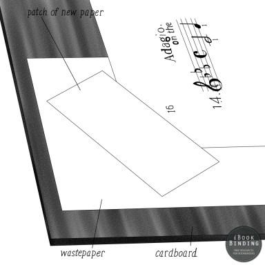Figure 169 - Applying Repair Paper to Torn Corners of Paper