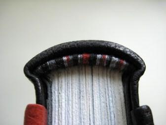 Hand sewn silk endbands by Kaija of Paperiaarre