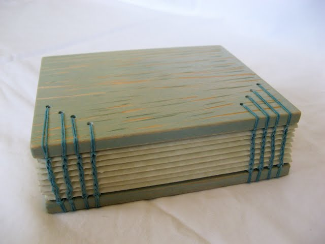 Chain Stitch Binding Each End of Book