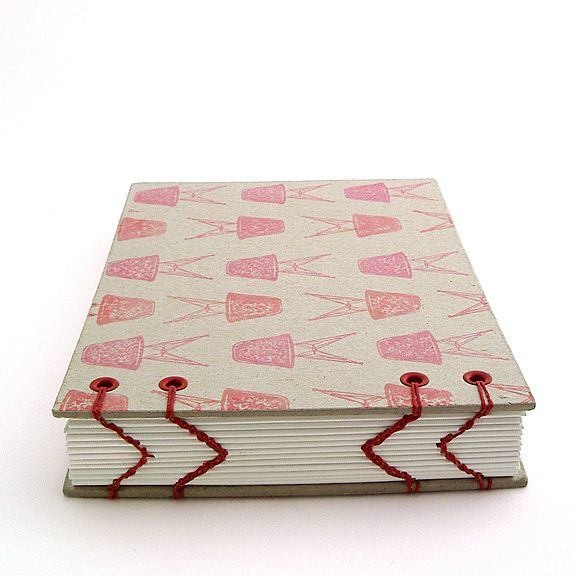 Simpl Bookbinding by Ruth Bleakley - Red Thread on White Paper