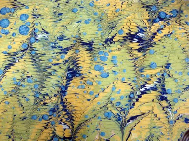 Marbled Paper Marbling Example-02 Photo by Lili's Bookbinding Blog - http://lilbookbinder.wordpress.com/marbled-paper/