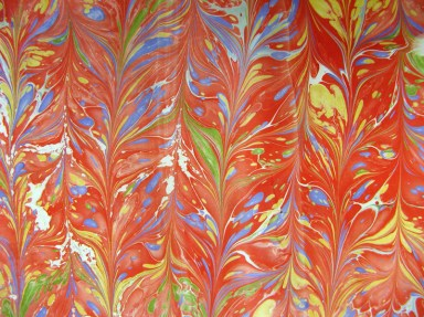 Marbled Paper Marbling Example-13 Photo by Lili's Bookbinding Blog - http://lilbookbinder.wordpress.com/marbled-paper/