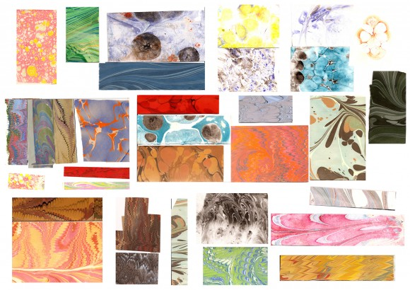 Examples of different marbling examples for your inspiration.
