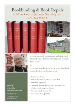 2015.11 - Bookbinding and Book Repair Workshop in Moray with Laura and Chris West