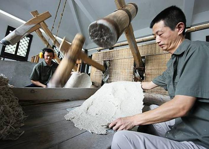 making Xuan paper