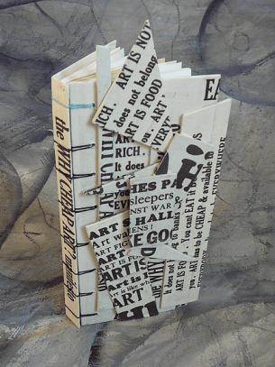Making Handmade Books - Crisscross Binding - http://makinghandmadebooks.blogspot.co.uk/2013/10/secret-belgian-binding-goes-sculptural.html