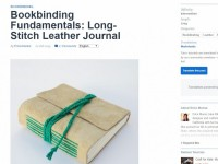 screenshot-Bookbinding Fundamentals Long-Stitch Leather Journal - Tuts+ Crafts & DIY Tutorial