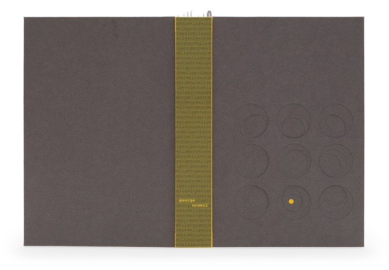 Folio Society Prize for the Set Book (2nd) — Clare Bryan. Nineteen Eighty-Four by George Orwell. Photo by Designer Bookbinders