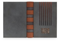 The Harmatan Leather Ltd. Prize — Patrick Gibbins. Nineteen Eighty-Four by George Orwell. Photo by Designer Bookbinders