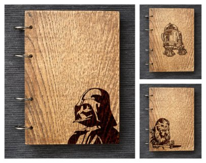 2015.12.16 - Star Wars Meets Bookbinding 26 Wood and Root