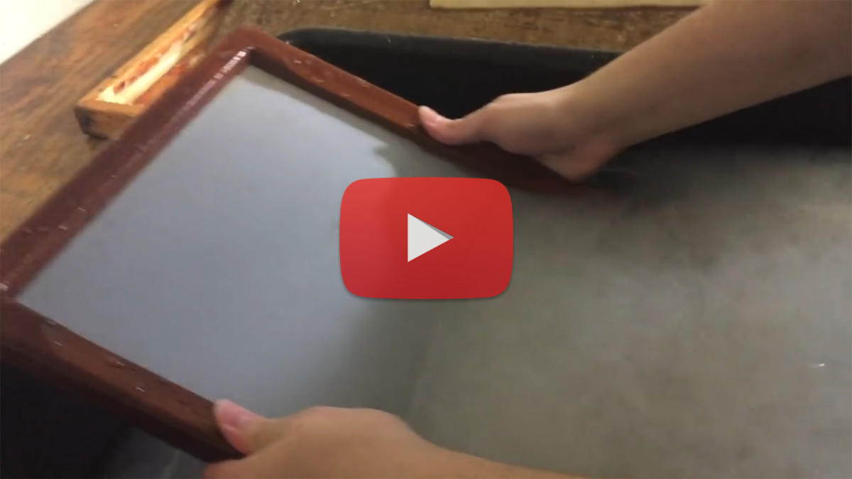 An Experiment in 18th Century Papermaking