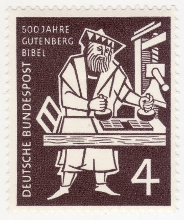 Germany 723 - 1954 15th Century Painter Gutenberg's 42 Line Bible Issue VF