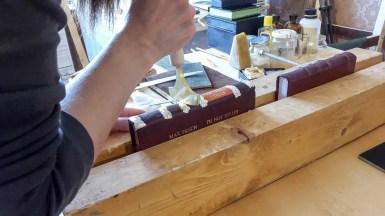 2017.03.28 - Gold Tooling Workshop - Bookbinding 07