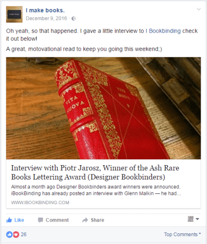 2017.04.17 - 5 Beautiful Bookbinding-Themed Facebook Accounts to Follow - I make books 01
