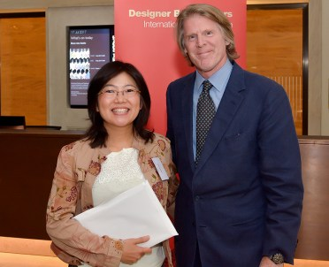 2017.08.18 - Designer Bookbinders International Competition 2017 - Distingiushed Winners - Kaori Maki with Mark Getty KBE