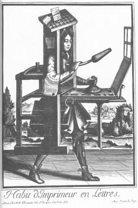 Nicolas de Lermessin - Costumes grotesques - Habit d'imprimeur