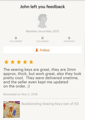 2018.12.03 - Reviews of BonefolderClub - Shop of iBookBinding at Etsy 05