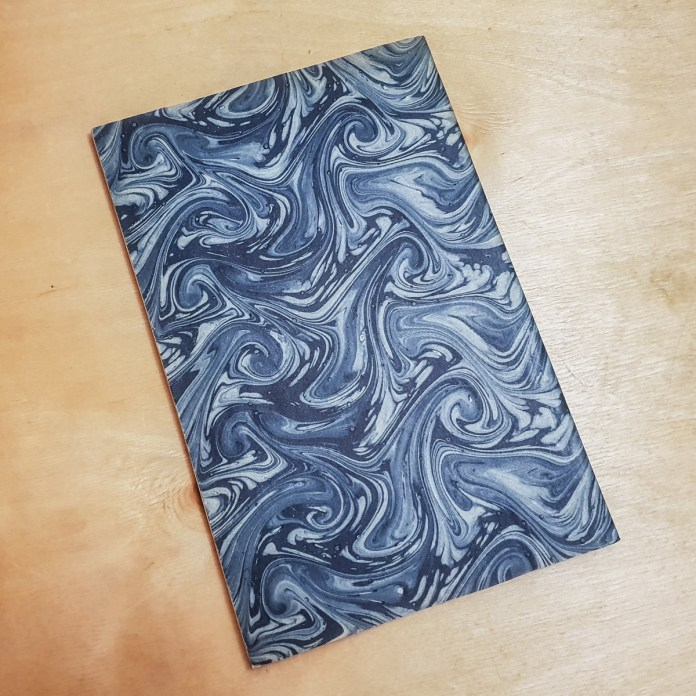 Marbled paper back cover