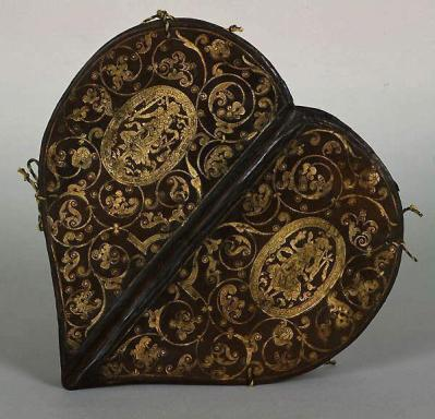 French Heart-Shaped Book, 15th century