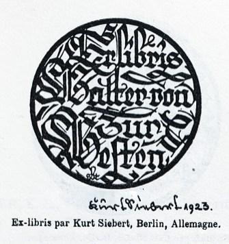 Ex libris by Kurt Siebert