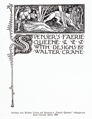 Initial by Walter Crane from Spenser's 'Faerie Queene', published by George Allen in 1896