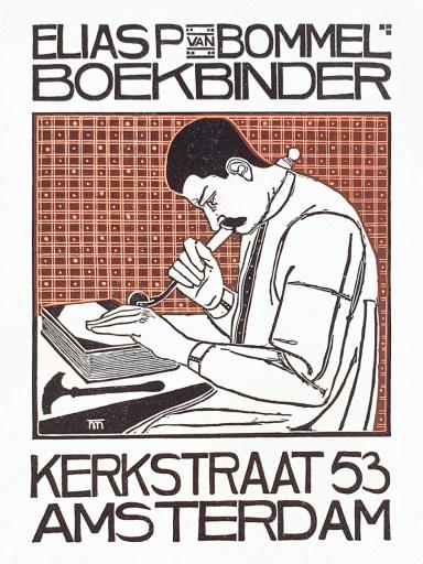 2019.02.21 - Amazing Century-Old Book Industry Ads - Elias van Bommel Boekbinder 1