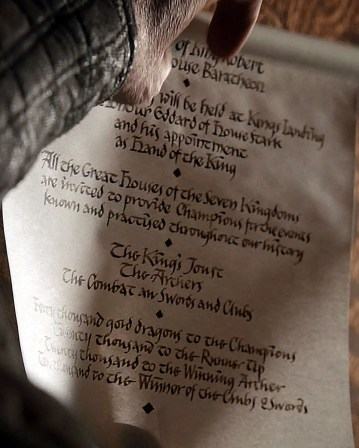 GoT S01E03 00.07.00 - Scroll at the High Council - close-up