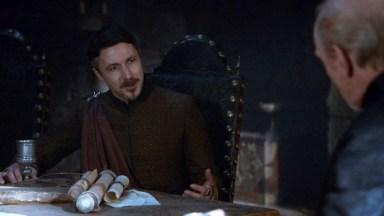 GoT S02E06 00.15.47 - Tywin Lannister' war council at Harrenhal