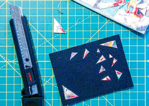 2019.09.04 - Bookbinding - Making Lacunose Book Cover With Leather and Paper - Making plaquette 2