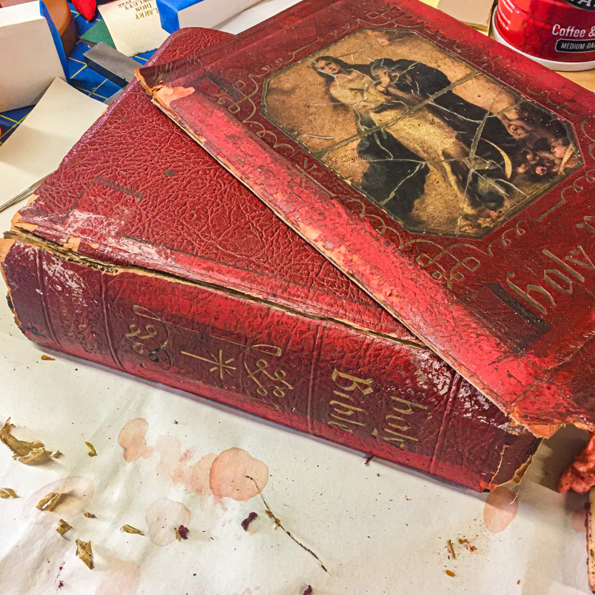 How Not To Repair Your Old Bible With Duct Tape