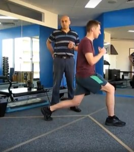 How to perform a physio lunge