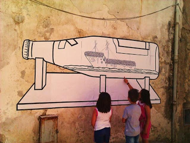 Gec, 'The raft of Lampedusa'- homage to Gericault, 2011 Favara, Sicily, Italy.
