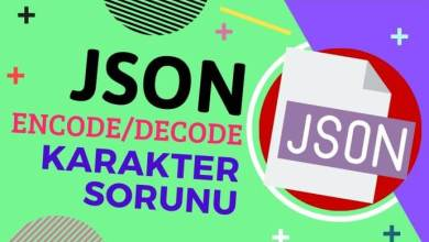 Photo of Json Encode/Decode Türkçe Karakter Sorunu