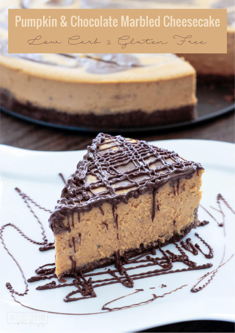 Keto Pumpkin Chocolate Marbled Cheesecake I Breathe I M