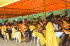 Graduating students sittind down during the IBSU first ever graduation on Wednesday 07 July, 2021. A total of 180 students graduated in various business and IT fields.