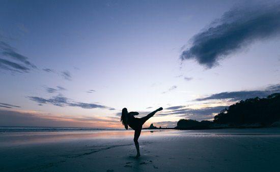 healthy woman on beach photo