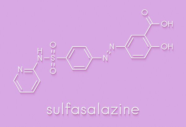 chemical representation of sulfasalazine